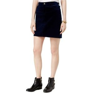 Tommy Hilfiger Navy Blue mini Skirt Corduroy